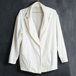 Free People Cream Oversized Blazer S